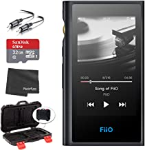 FiiO M9 Portable High-Resolution Lossless Wireless Music Player (Black) + microSDHC 32GB Card + Memory Card Hardcase + Ste... photo