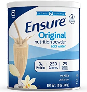 Ensure Nutrition Powder One Month Supply, Vanilla (Pack of 6), Blue