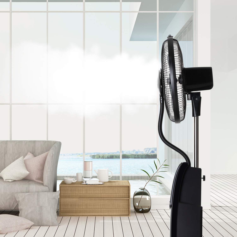 Taurus MF4000 - Ventilador de pie oscilante con nebulizador de ...