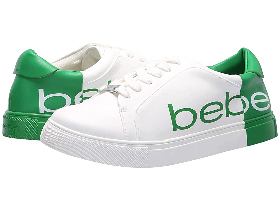 Bebe Charley (White/Green) Women