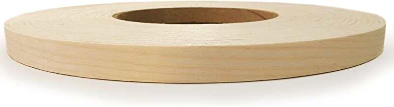 """Birch 3/4"""" X 250' Roll Preglued, Wood Veneer Edge Banding, Iron on with Hot Melt Adhesive, Flexible Wood Tape Sanded to Pe..."""