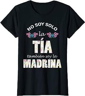 Womens Regalo para Madrina - Playera de Tia y Madrina de Bautizo