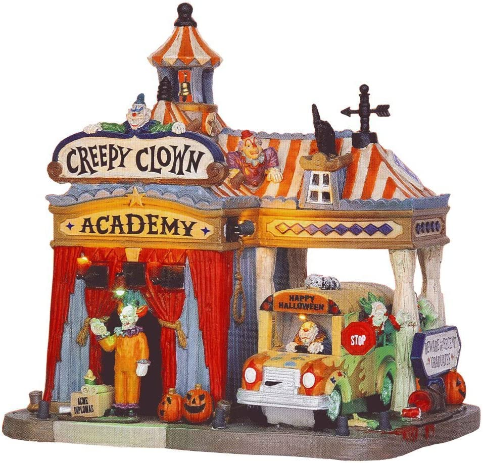 Lemax Fixed price for sale Spooky Town Creepy Clown Academy Directly managed store
