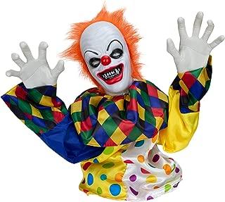 Holidayana Halloween Animatronics Animated Crawling Clown Prop Spooky Animatronic Halloween Props Decoration