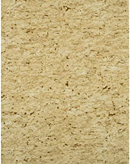 York Wallcoverings Modern Rustic Sueded Cork Wallpaper 8 X 10 Memo Sample Pale Honeydew Green/Sage Green/Cream/Flecks of Gold and Silver Glint