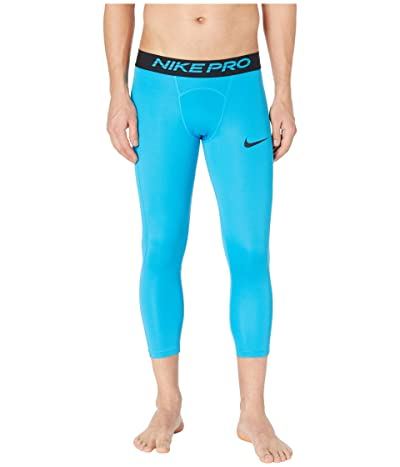 Nike Nike Pro Tights 3/4 (Laser Blue/Black) Men