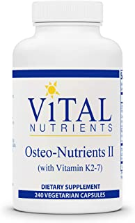 Vital Nutrients - Osteo-Nutrients II (with Vitamin K2-7) - Bone Support Formula with Boron - Gluten Free - 240 Vegetarian ...
