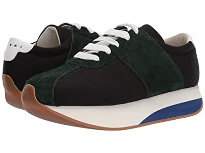 MARNI Retro Runner Sneaker (Black/Cypress) Men