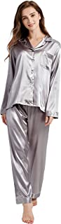 Women's Classic Satin Pajama Set Sleepwear Loungewear