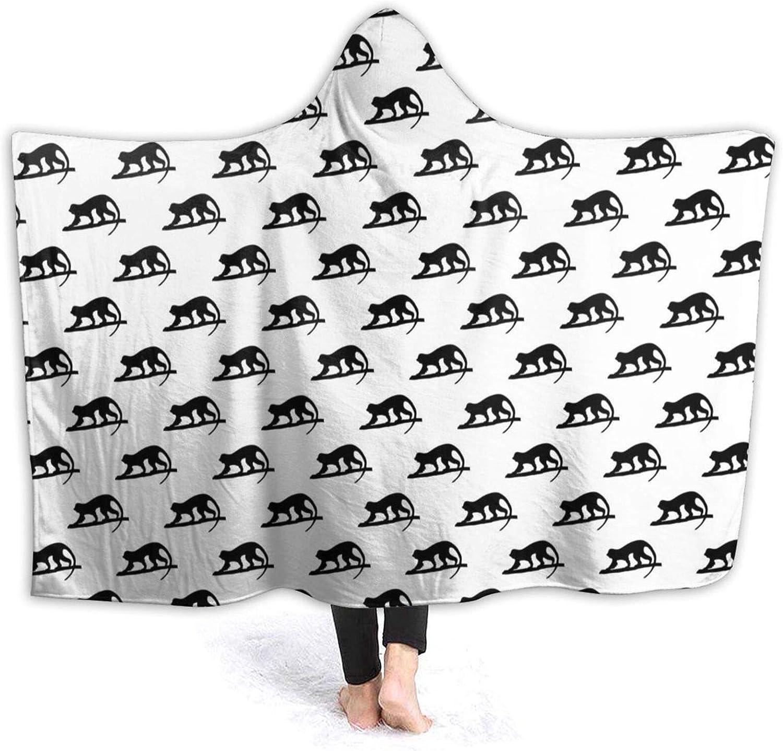 Suining Long-awaited Monkey Pattern Blanket with In a popularity Women Sherpa Hood Throw Blan