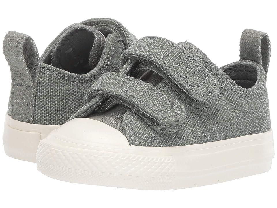 Converse Kids Chuck Taylor All Star 2V Washed Out Ox (Infant/Toddler) (Vintage Lichen/Egret/Egret) Boys Shoes