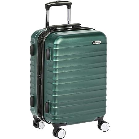 Amazon Basics Valise rigide à roulettes pivotantes de qualité supérieure avec serrure TSA intégrée, Taille cabine 55 cm, Vert