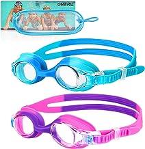 OMERIL Swim Goggles, 2 Packs Anti-Fog Leak Proof Kids...