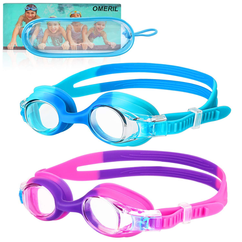 OMERIL Anti Fog Swimming Goggles Flexible