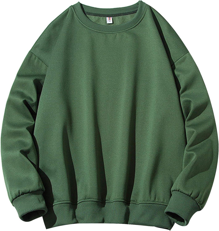 Men's Crewneck Athletic Sweatshirt Fashion Shirt shopping Long-Sleeve Limited time trial price Cas