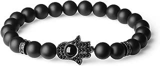 COAI Hamsa Hand Protection Stone Bracelet for Men Women