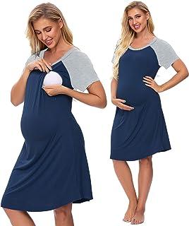 Women's Maternity Sleepwear Nursing Nightgown Labor...