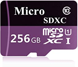 $29 » 256GB Micro SD SDXC Memory Card High Speed Class 10 with Micro SD Adapter, Designed for Android Smart