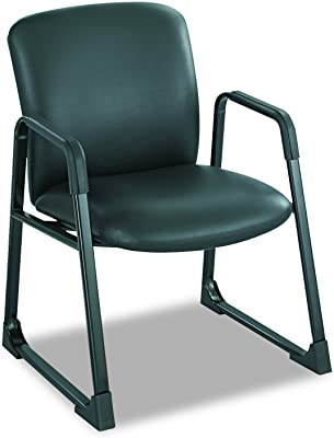 Safco Products Uber Big and Tall Guest Chair, Black Vinyl