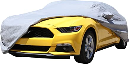 XtremeCoverPro Gold Series Waterproof 100% Breathable Car Cover for Selected Ford Mustang Coupe Convertible 1999 2000 2001 2002 2003 2004 2005 2006 2007 2008 2009 2010 2011 2012 2013 2014 (Space Gray)