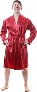 Up2date Fashion Men's Satin Robes with Front Pockets, Style-Gwn51