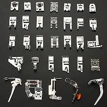 Auped 32pcs Pieds-de-biche multifonctionnel pour Machine à coudre domistique