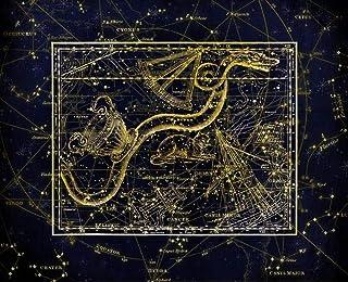HQHff Constelación Zodiaco Serpiente Mapa Celeste Alejandría,Puzzles Adultos 1000 Piezas 75x50cm,3D Puzzles de Madera Adultos Regalo de Juguete Educativo para niños