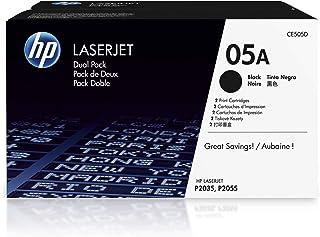HP 05A | CE505D | 2 Toner Cartridges | Works with HP LaserJet P2035 series, P2055 series | Black