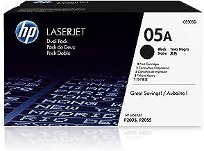 Best HP 05A | CE505D | 2 Toner Cartridges | Works with HP LaserJet P2035 series, P2055 series | Black Review