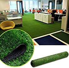 GL Artificial Turf Grass Lawn, Realistic Synthetic Grass Mat, Indoor Outdoor Garden Lawn Landscape for Pets,Fake Faux Grass Rug with Drainage Holes 7FT X7FT(49 Square FT)