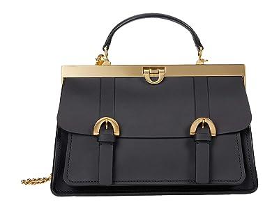 ZAC Zac Posen Biba Frame Mini Satchel Solid (Black) Handbags