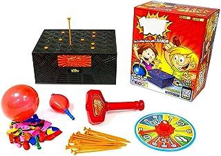 Juguete de juego divertido y emocionante para niños, no romper los globos. Juego de cajas de explosión con martillo, bande...