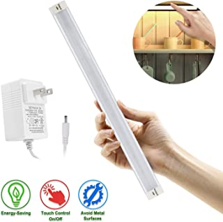 LED Under Cabinet Lighting, Under Counter Lighting with 33 LEDs and Touch Activated Plug-in LED Light Bar for Kitchen, Cupboard, Shelf, Closet (Cold Light 6000K)