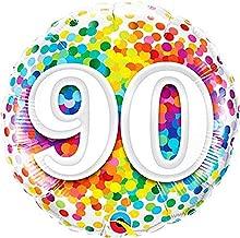 Qualatex Foil Balloon 49100 BIRTHDAY ART DECO 18 Multicolored