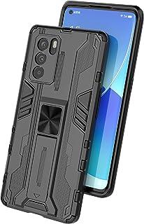 جراب Oppo Reno6 Pro 5G، جراب واقٍ متين ومتين ومقاوم للصدمات مع مسند، جراب واقٍ مضاد للصدمات لهاتف Oppo Reno6 Pro 5G-Blue