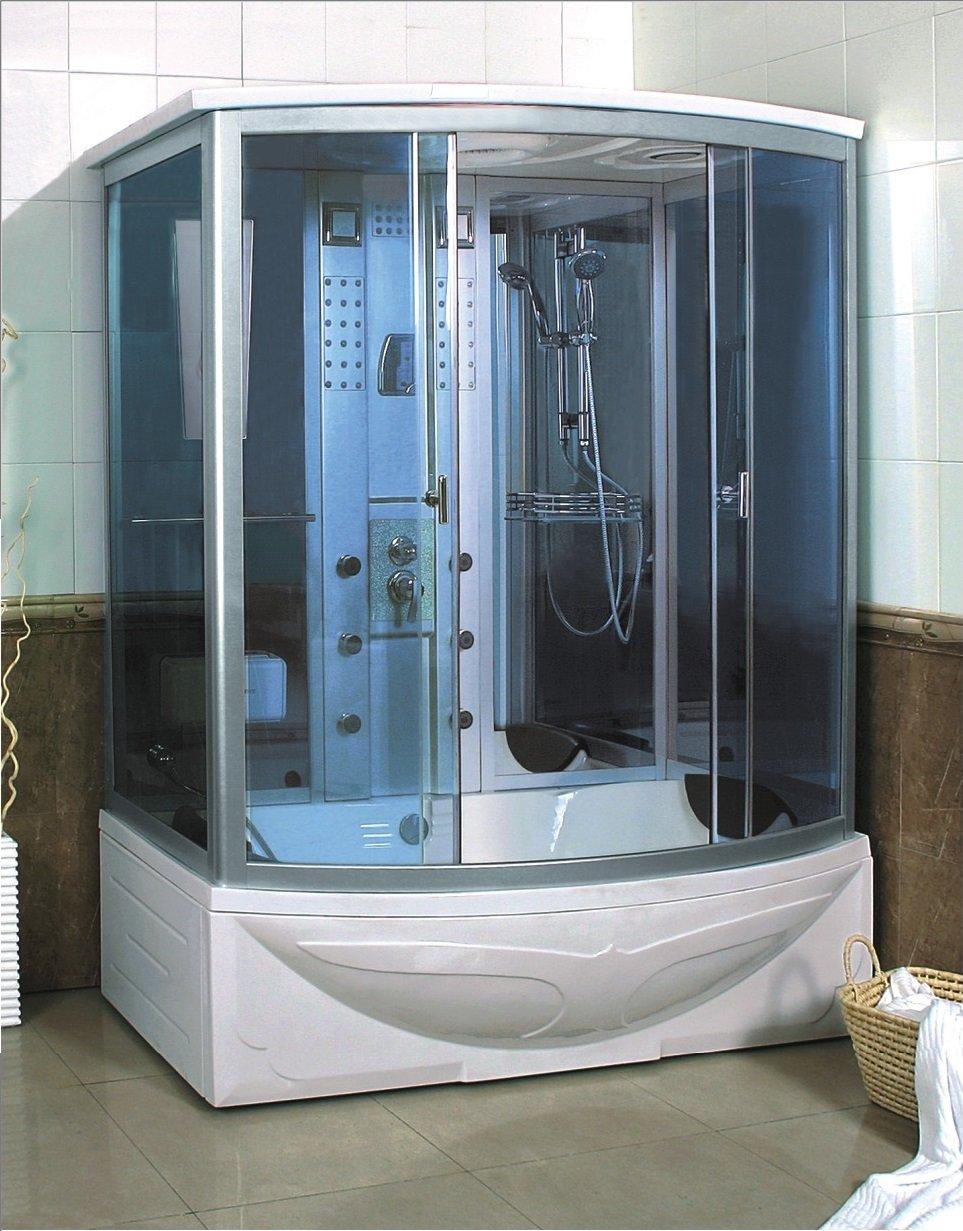 TRADE Cabina GD-Mampara de ducha con baño de hidromasaje para 2 personas, 170 x 93 (75) de baño y Cromoterapia Turco.: Amazon.es: Bricolaje y herramientas