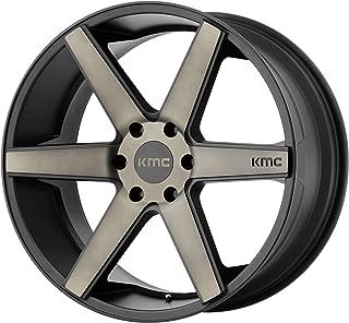 KMC KM704 20x8.5 6x5.5 38mm Black/Dark Tint Wheel Rim 20