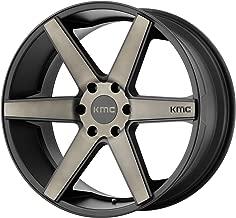 4 KMC KM704 24x9 6x5.5 30mm Black/Dark Tint Wheels Rims 24