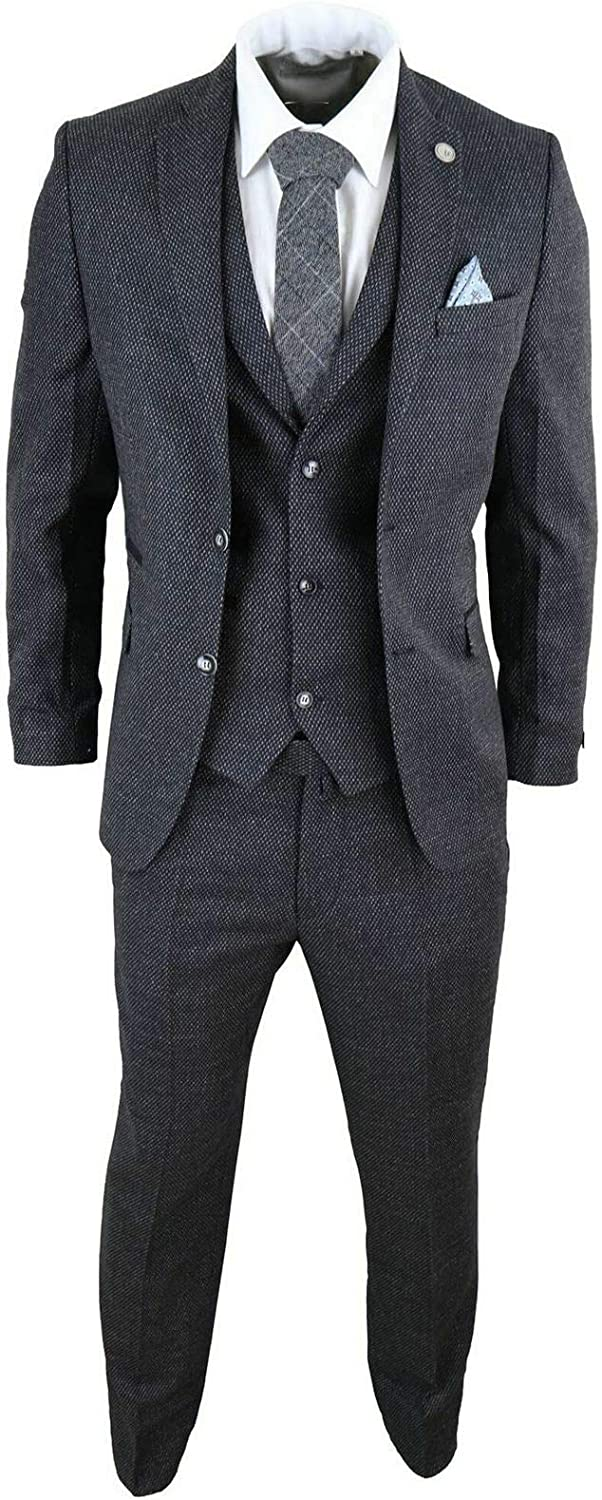 HOTK Men's Suits 3 Piece Checked Max 42% Max 74% OFF OFF Business fit Slim Single
