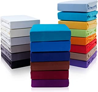 Drap-housse de qualité supérieure pour lit à sommier tapissier - 190 g/m² - Certifié Öko-Tex - Marron - 140-160 x 200-220 ...