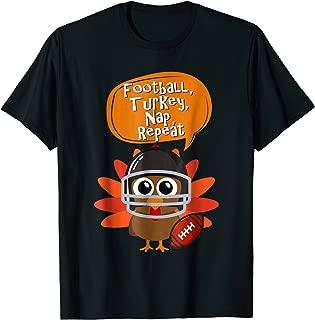 Football Turkey Nap Repeat T-shirt