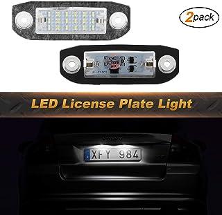 OZ LAMPE Kennzeichenbeleuchtung 2 X 18 LED Nummernschildbeleuchtung 2835 SMD Kompatibel mit VOLV O S80 1998~2015 V70 2007 2013 XC60 2008 2013 XC70 2007 ~ XC90 V50 S40 C30 2006 2010 vor dem Facelift
