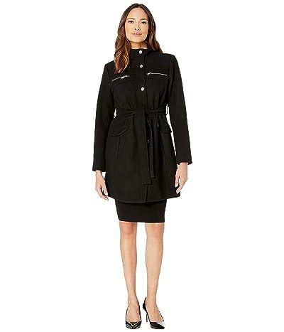 Vince Camuto Belted Wool Coat V29769 (Black) Women