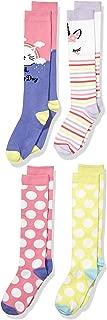 Amazon Brand - Spotted Zebra Girl's 4-Pack Knee Socks