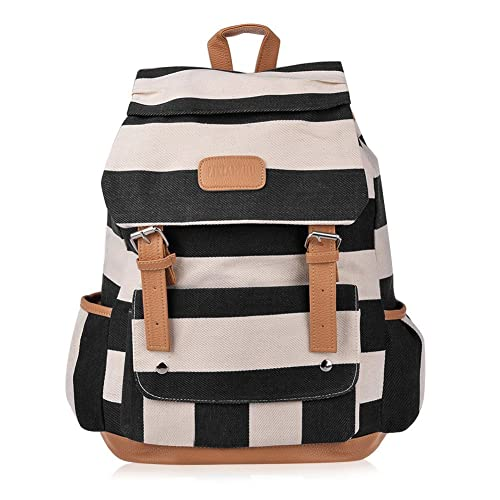 0fdfcb740c7d Vbiger Girls  Canvas Backpack in Navy Style Knapsack with Striped Pattern
