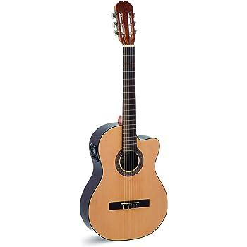 Ibanez GA5TCE-AM - Guitarra clásica (corte cutaway, plantilla bajo la selleta), color amarillo: Amazon.es: Instrumentos musicales