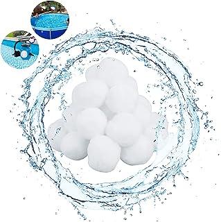 Bola de Filtro de Piscina, Bolas del Filtro de Arena Equipo de Limpieza de Piscinas de la Piscina 350g Fibra de Filtro de Bola para 10.7 kg Filtro de Piscina