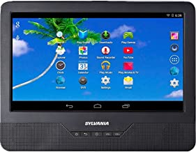 Sylvania SLTDVD9220 9in Android Tablet with Integrated Portable DVD Player (Renewed)
