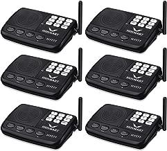 Wireless Intercom System Hosmart 1/2 Mile Long Range 7-Channel Security Wireless Intercom System for Home or Office (2018 New Version) [6 Stations Black]