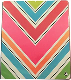Carolina Pad Studio C The Sugarland Collection 1 Inch O-Ring Vinyl Binder with Pockets (Colorful Chevrons, 10 Inches x 11.5 Inches, View Front Window)